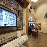Inside the Glenwood Springs Visitor Center