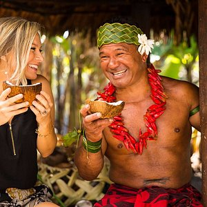 The Samoan Village at the Polynesian Cultural Center, where coconut is life!