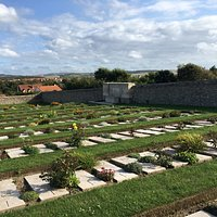 A view of the cemetery