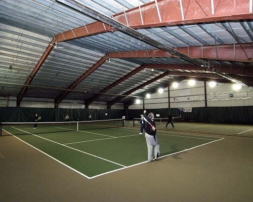 Two Indoor Tennis Courts Open Daily
