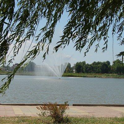 Фонтан на озере Толока