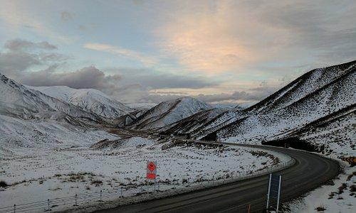 Amazing Lindis Pass during Winter