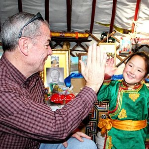 Visit Mongolian Nomadic family and give a High Five