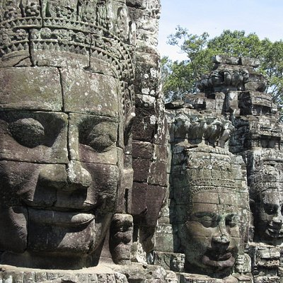 Bayon Temple Face towers