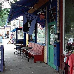The shop exterior.