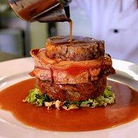 Award winning slow roast pork belly