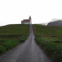 foto desde la carretera de acceso