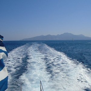 Boat trip back from Nisiros