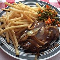 Hamburger Steak & Onions - Rosalie's, Iroquois Falls ON
