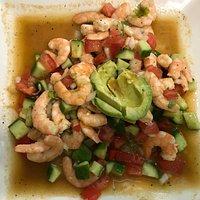 shrimp ceviche with avocado