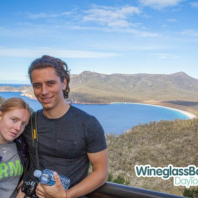 Complimentary Souvenir Photos taken at the Wineglass Bay Lookout.