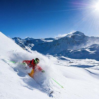 Domaine skiable de Tignes, relié à Val d'Isère
