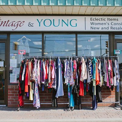 Store front of Vintage & Young