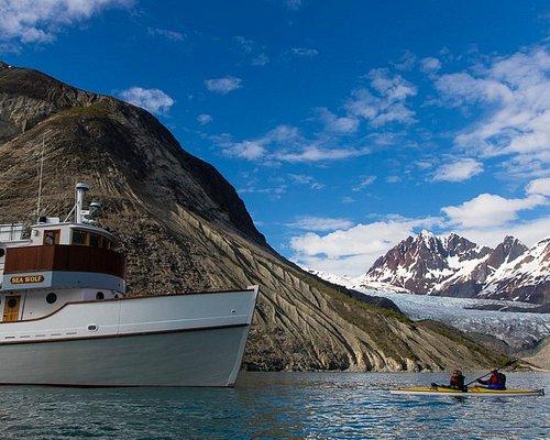 Sea Wolf Adventurers kayaking at Riggs Glacier-Glacier Bay
