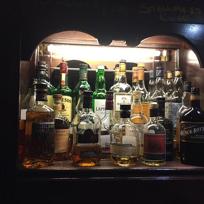 Whisky Shelf at McNeill's