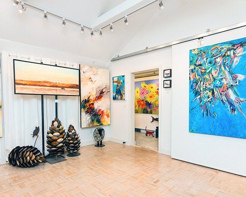 Main room of Sybil Frank Gallery.  Artwork changes every 4 weeks.