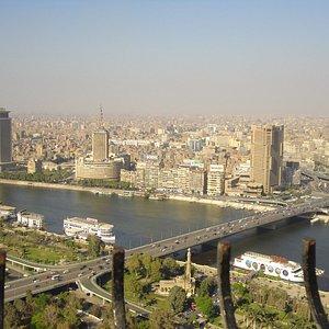 Deslumbrante la vista desde la Cairo Tower y el Ramses Hilton