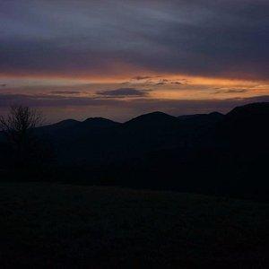 L'alba proseguendo dal Cantagrilli