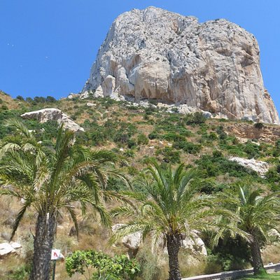 view to top of Penyal D'Ifach