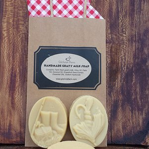 Goats milk soap, made onsite from our own goat's milk