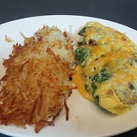Omelet w/hashbrowns