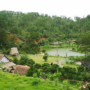 làng Cù Lần nhìn từ trên cao