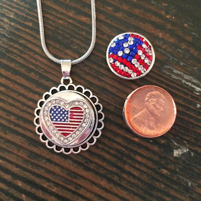 God and Country Treasure  Snap jewelry! Great Price