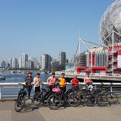 Beautiful city view during a short stop at False Creek/Science World