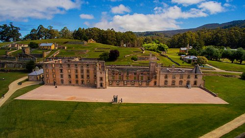 Port Arthur Historic Site from above