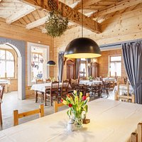 Wnętrza Restauracji Zakopiańskiej w zrewitalizowanej witkiewiczowskiej willi