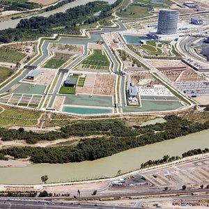 Foto aérea zona sur Parque del Agua