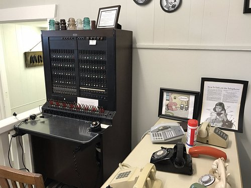 """The """"hands on"""" telephone display at  the Sunnyside Historical Museum"""