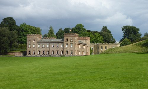 Ugbrook House. The chapel is on the right at the rear