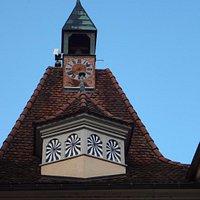 St-Ursanne - Porte St-Pierre (clocheton avec horloge)
