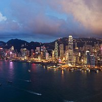 sky100 East Deck - A Panoramic View of the Hong Kong Island