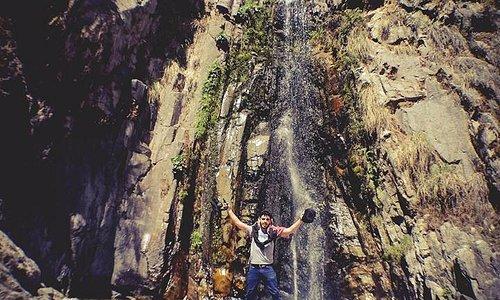 catarata en Pampas camino a Rúpac