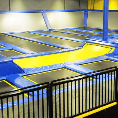 Main court with trampolines