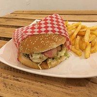 Exquisita hamburguesa sencilla!