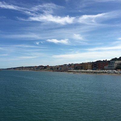 Ein schöner Aussichtspunkt in Francavilla al mare - die in der Nähe gelegene sie Sirena-Bar wurd