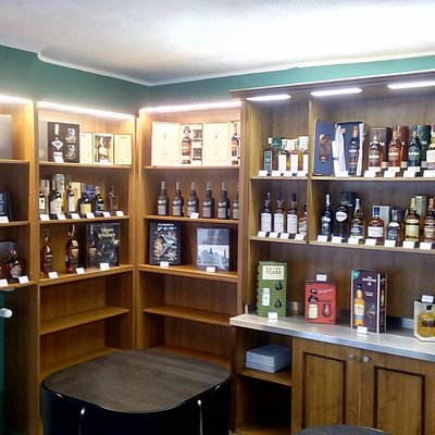 a large selection of bottles to buy