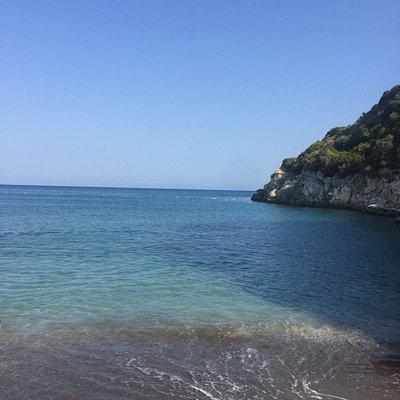 Taşdibi plajının tek taşsız alanı