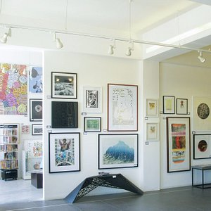 The main gallery at Jacaranda Images with works from the permanent collection