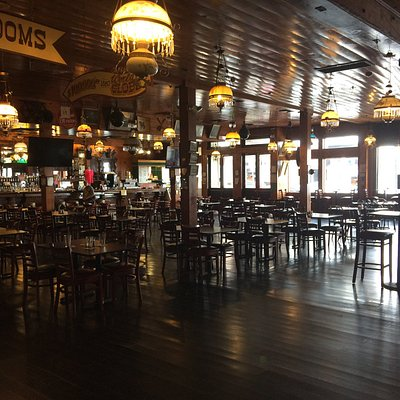 Inside the Delta Saloon.