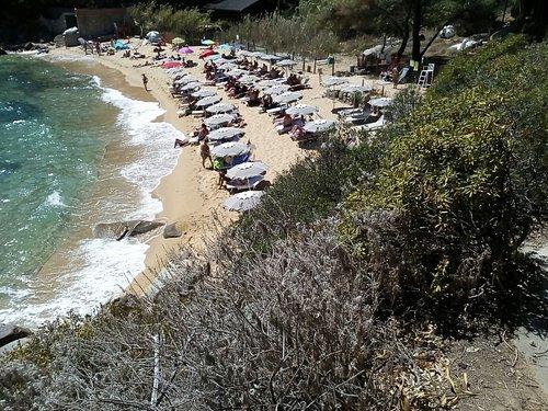 la spiaggia delle caldane