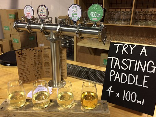 Create your own tasting paddle selection from 9 of our ciders