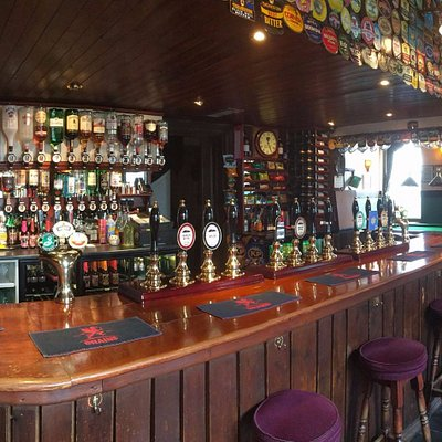 The bar at the Star Inn, Crowlas, usually with four Penzance Brewing Co beers, made on the premi