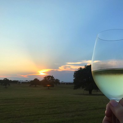 A beautiful Hill Country sunset at Alexander Vineyards