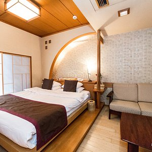 The Compact Double Room at the Miyabiyado Takemine