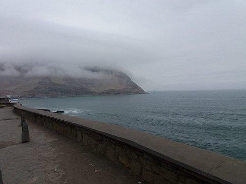 The winter clouds over morro solar and playa herradura