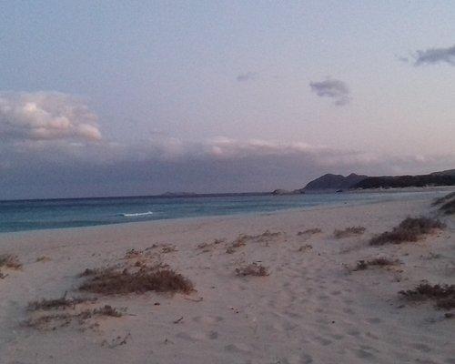 Spiaggia delle Ginestre al tramonto